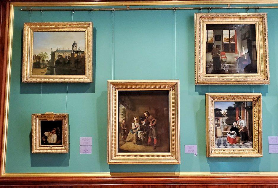 エルミタージュ美術館の「17世紀オランダ美術の間」に飾られている絵画-2