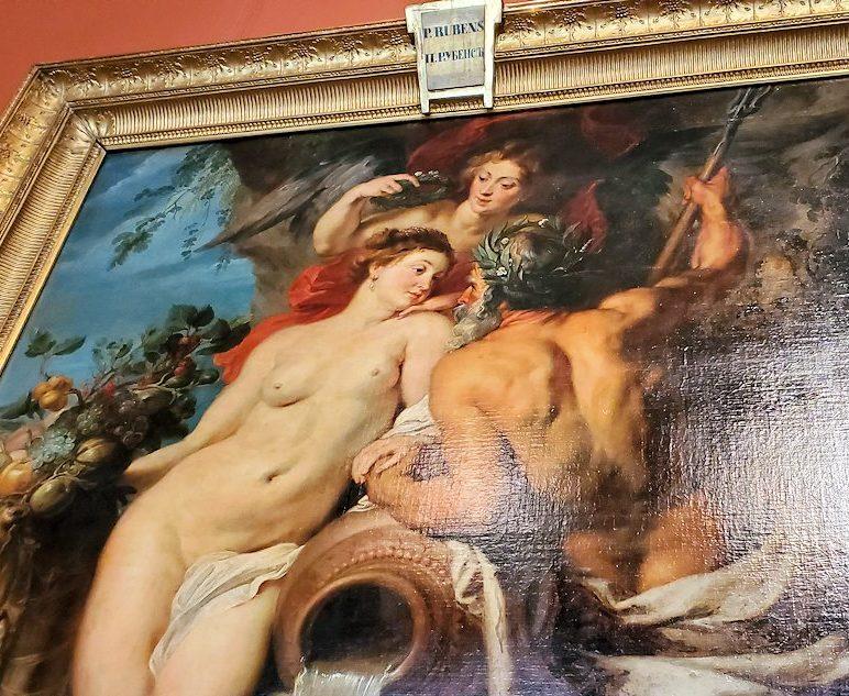 『大地と水の結合』 (The Union of Earth and Water) by ピーテル・パウル・ルーベンス(Peter Paul Rubens) & フランス・スナイデルス(Frans Snyders)のドアップ