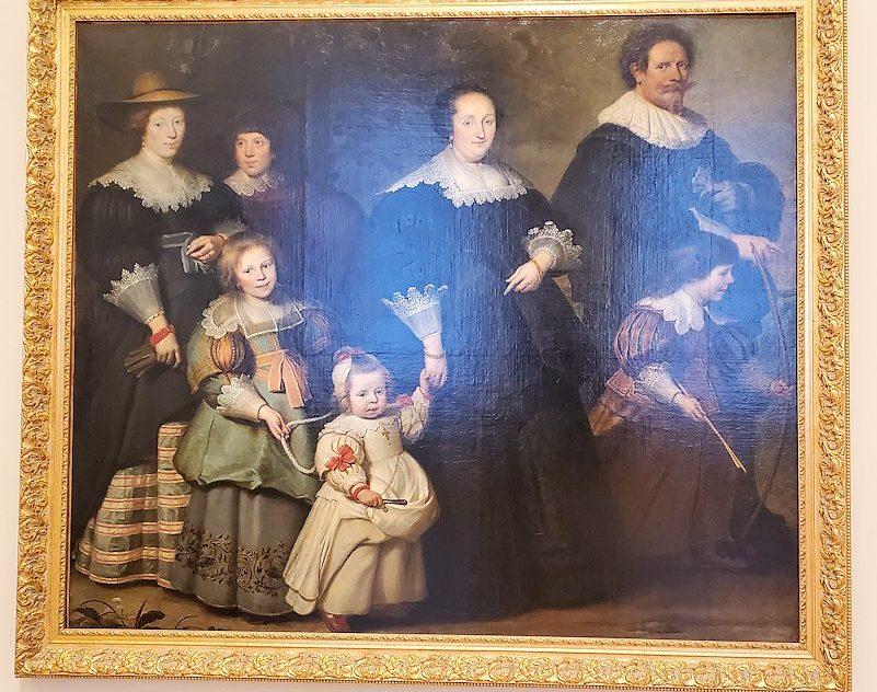 『コルネリスとその家族との肖像画』 (Self-portrait of the Artist with his Wife Suzanne Cock and their Children) by コルネリス・ド・フォス(Cornelis de Vos)