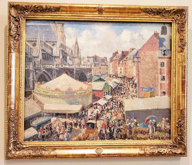 『ディエップの見本市』 (The Fair in Dieppe, Sunny Morning) by カミーユ・ピサロ(Camille Pissarro)