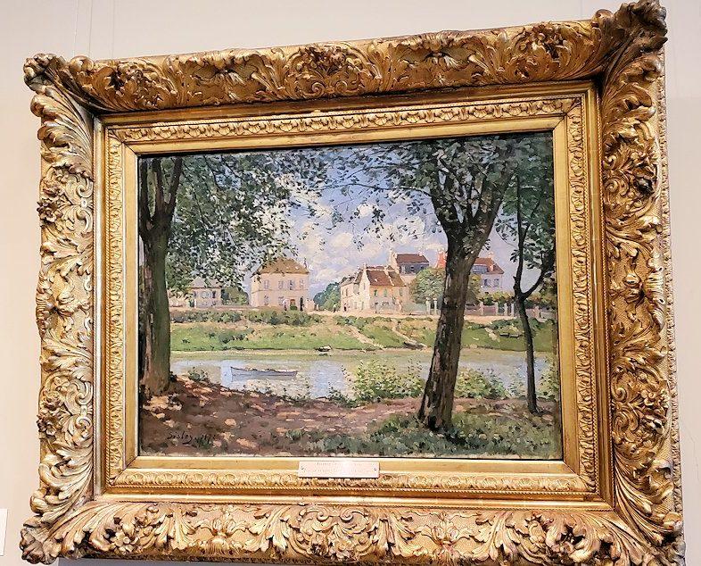『ヴィルヌーヴ・ラ・ガレンヌの村』 (Villeneuve-la-Garenne) by アルフレッド・シスレー(Alfred Sisley)