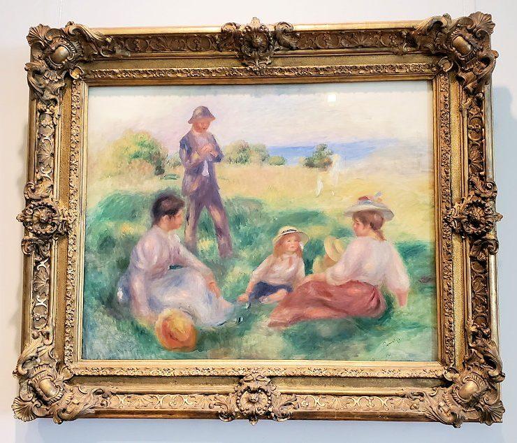 『ベルナーヴァルでのくつろぎ』 (Party in the Country at Berneval) by ピエール・オーギュスト・ルノワール(Pierre-Auguste Renoir)