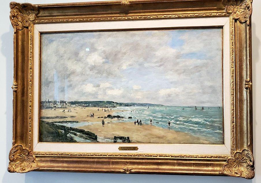 『トルヴィルの浜』 (Beach at Trouville) by ウジェーヌ=ルイ・ブーダン