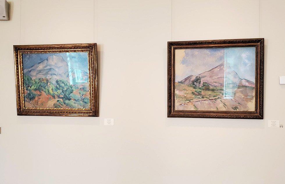 エルミナージュ新館にある「セザンヌの間」の絵画