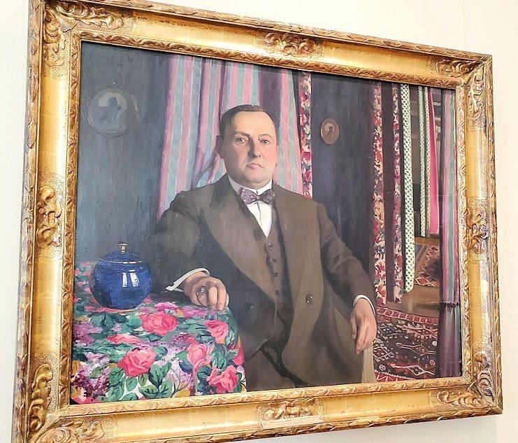 『ジョルジュ・ハーセンの肖像』 (Portrait of Georges Haasen) by フェリックス・ヴァロットン(Félix Vallotton)