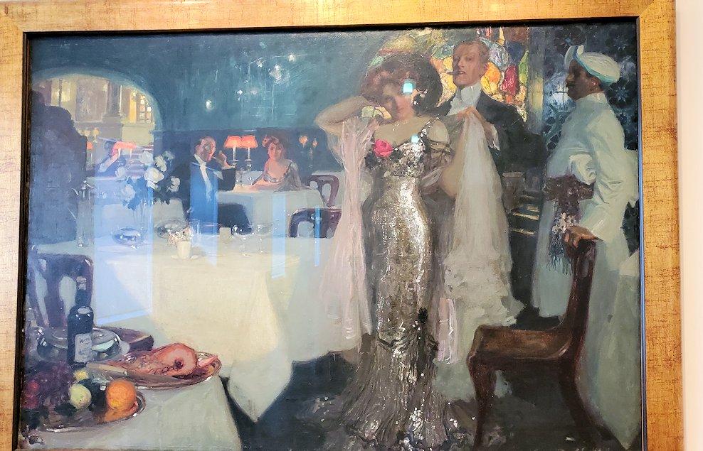 『レストランにて』 (In the Restaurant) by チャールズ・ホフバウアー(Charles Hoffbauer)-2
