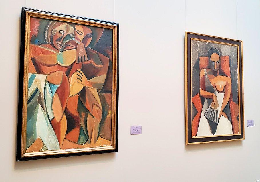 エルミタージュ新館にある「パブロ・ピカソの間」の絵画