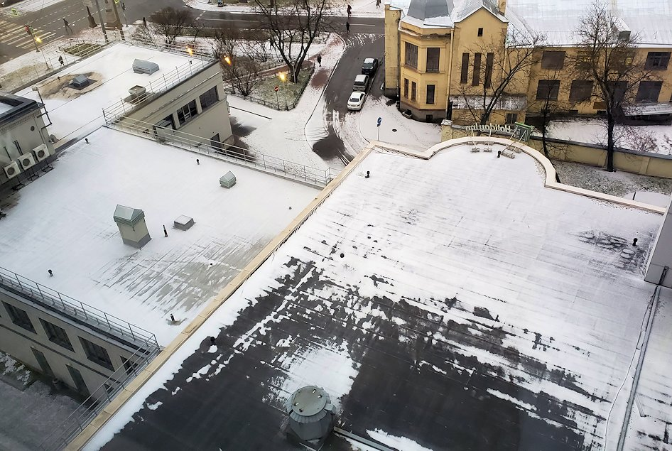 朝のホリデーインの上層階から眺める、サンクトペテルブルク市内の景色-1
