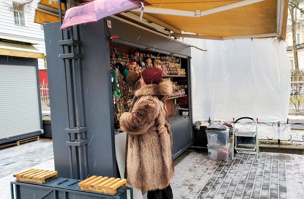 サンクトペテルブルク近郊にあるエカテリーナ宮殿周辺のお土産屋さん