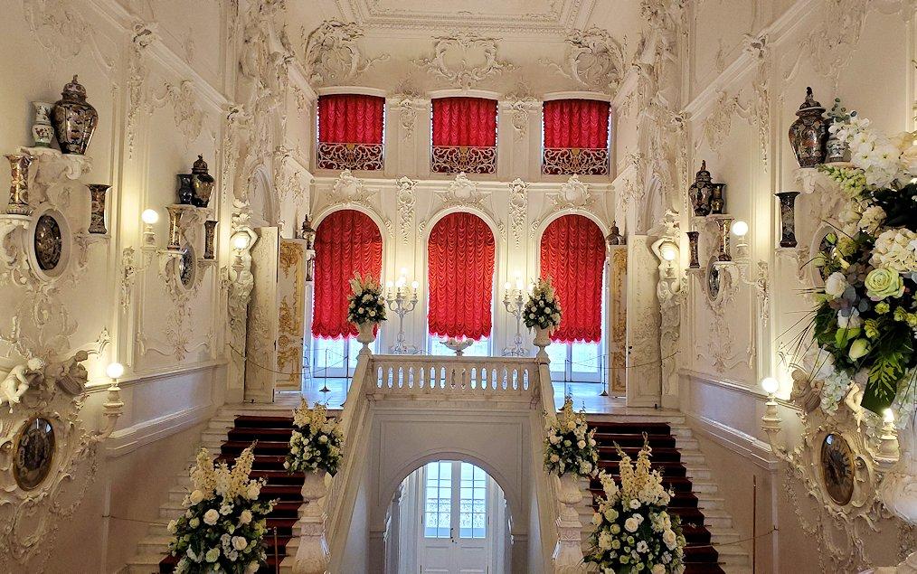 エカテリーナ宮殿の2階階段部分の内装