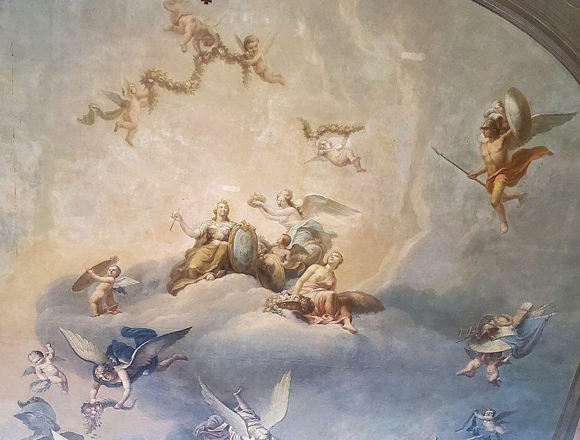 エカテリーナ宮殿の大広間の天井画