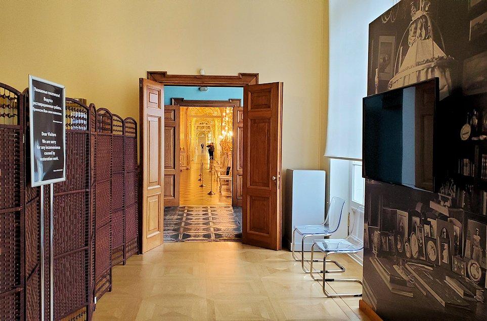 エカテリーナ宮殿2階の廊下