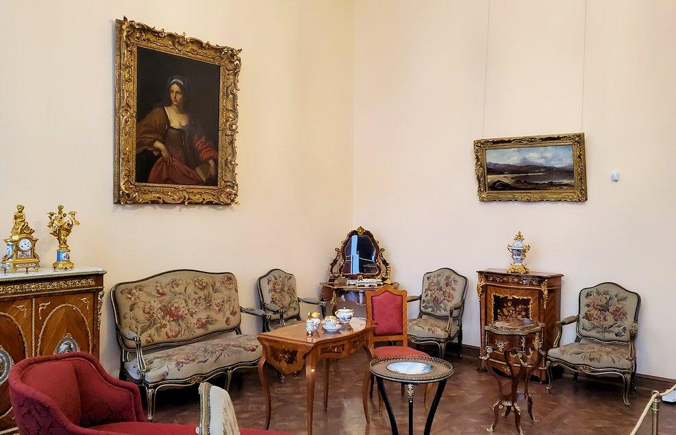 エカテリーナ宮殿の「エカテリーナ2世の衣装部屋」