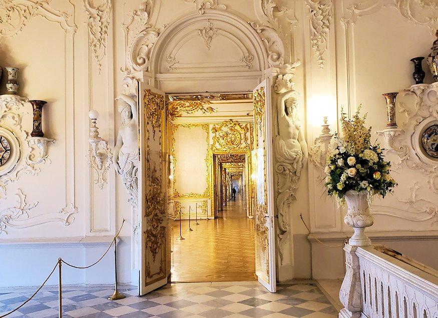 エカテリーナ宮殿の2階廊下
