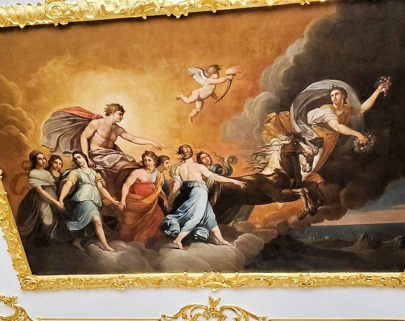 エカテリーナ宮殿の「白の主食堂」の天井画