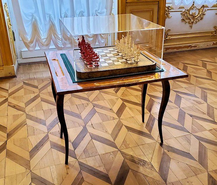 エカテリーナ宮殿内にあったチェス