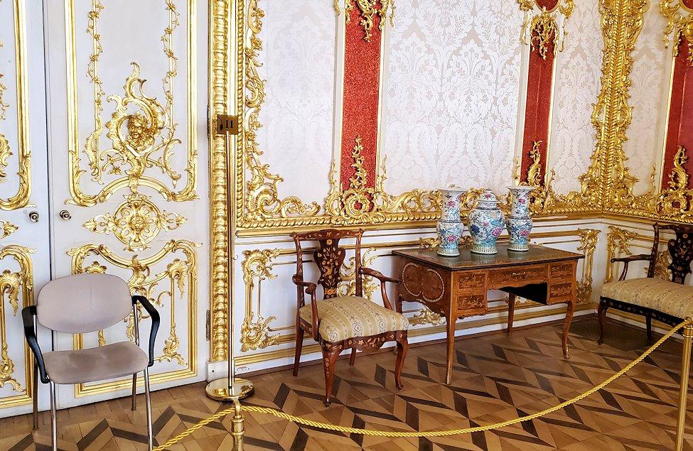エカテリーナ宮殿内に置かれていた装飾品など