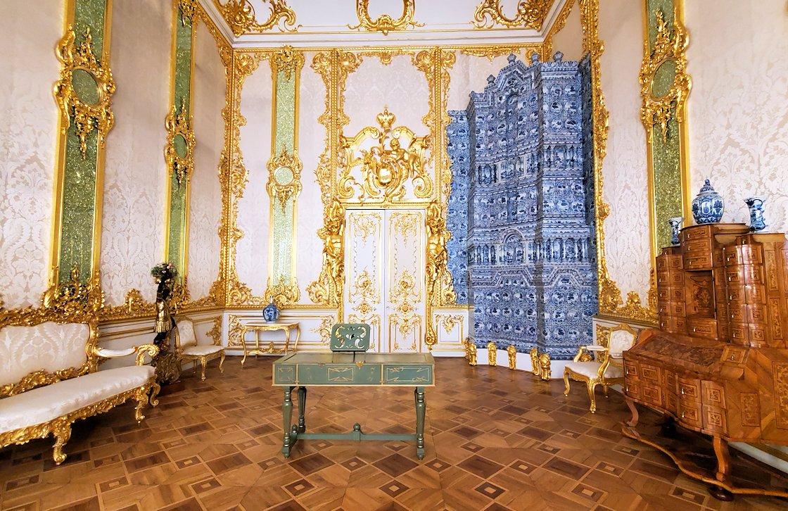 エカテリーナ宮殿でも食堂だったお部屋
