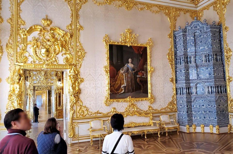 エカテリーナ宮殿で「肖像画の間」を訪れる-1