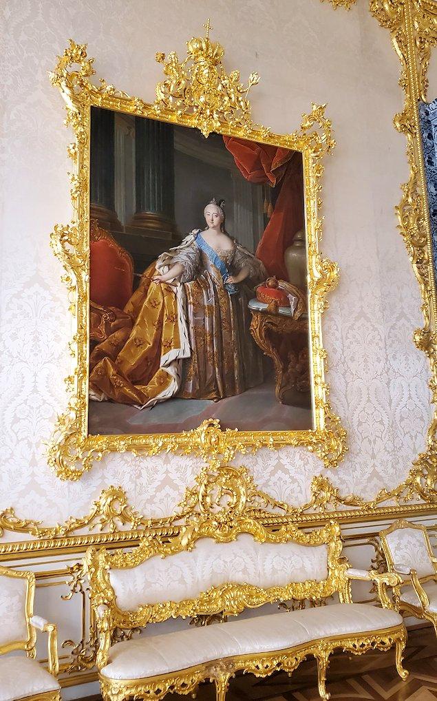 エカテリーナ宮殿で「肖像画の間」に飾られていたエリザヴェータ・ペトロヴナの肖像画