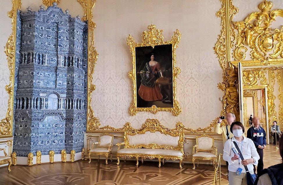 エカテリーナ宮殿で「肖像画の間」の景色