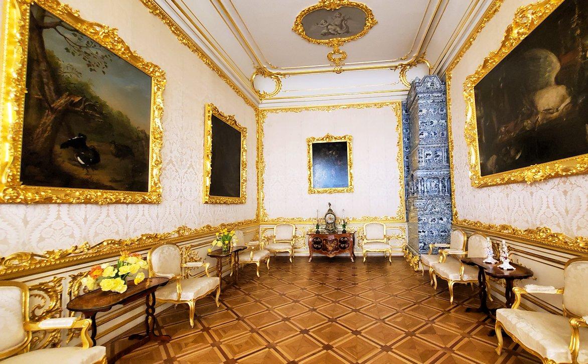 エカテリーナ宮殿の「アレクサンドル1世の客間」近くにあった小部屋