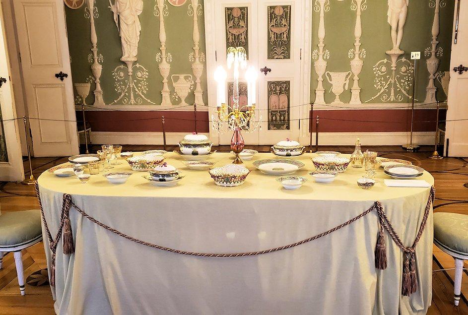 エカテリーナ宮殿の「緑の食堂」の内装