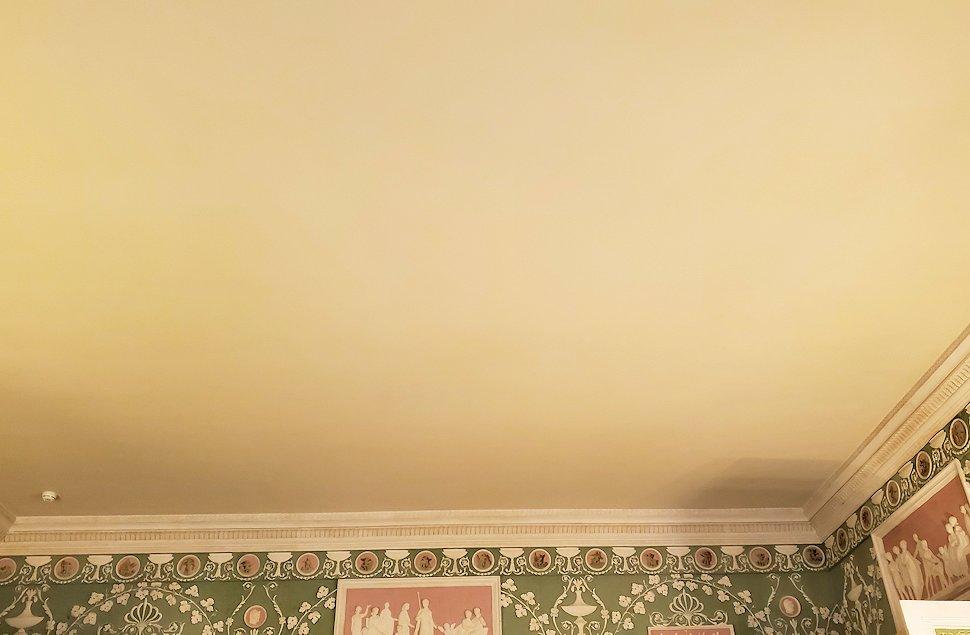 エカテリーナ宮殿の「緑の食堂」の天井
