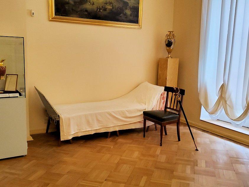 エカテリーナ宮殿の2階にあった部屋にあったベッド