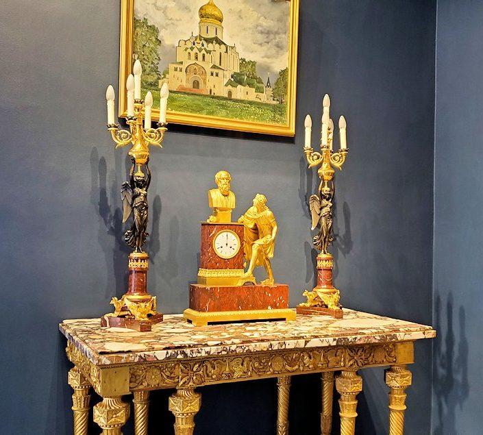 エカテリーナ宮殿に置かれていた、豪華な調度品