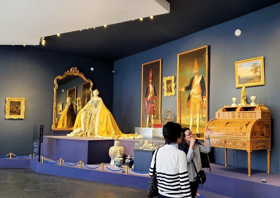 エカテリーナ宮殿に飾られている、皇帝達の着ていた衣類