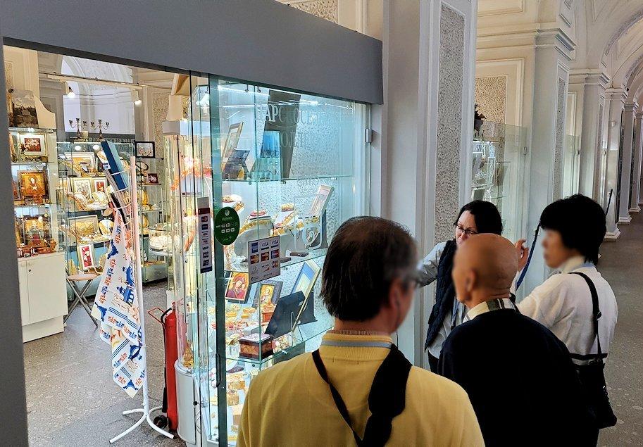 エカテリーナ宮殿1階にあるお土産店