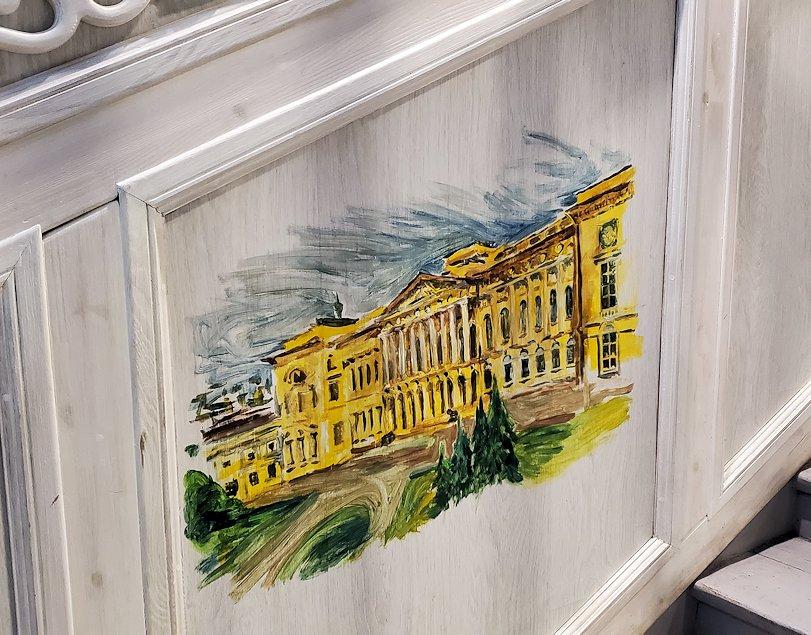 エカテリーナ宮殿近くのレストランの内装