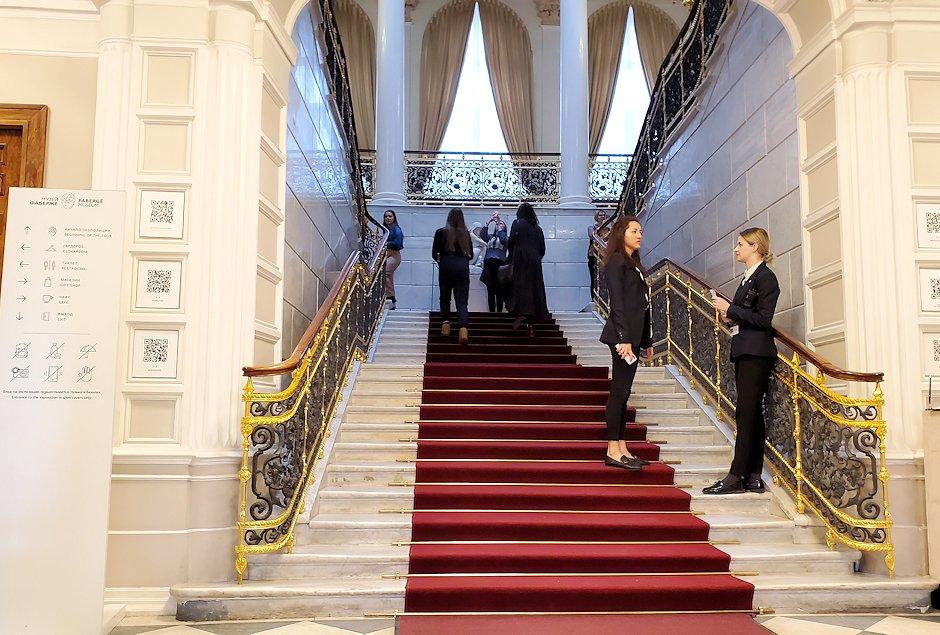 ファベルジェ博物館の入口階段