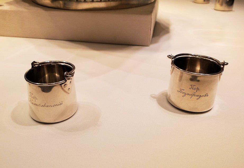 ファベルジェ博物館にあったウォッカを飲むコップ