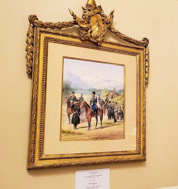 ファベルジェ博物館の壁に飾られていた、ニコライ二世の絵