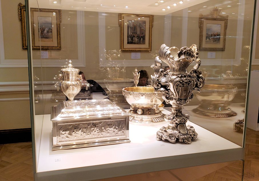 ファベルジェ博物館に置かれていた高級金細工工芸品
