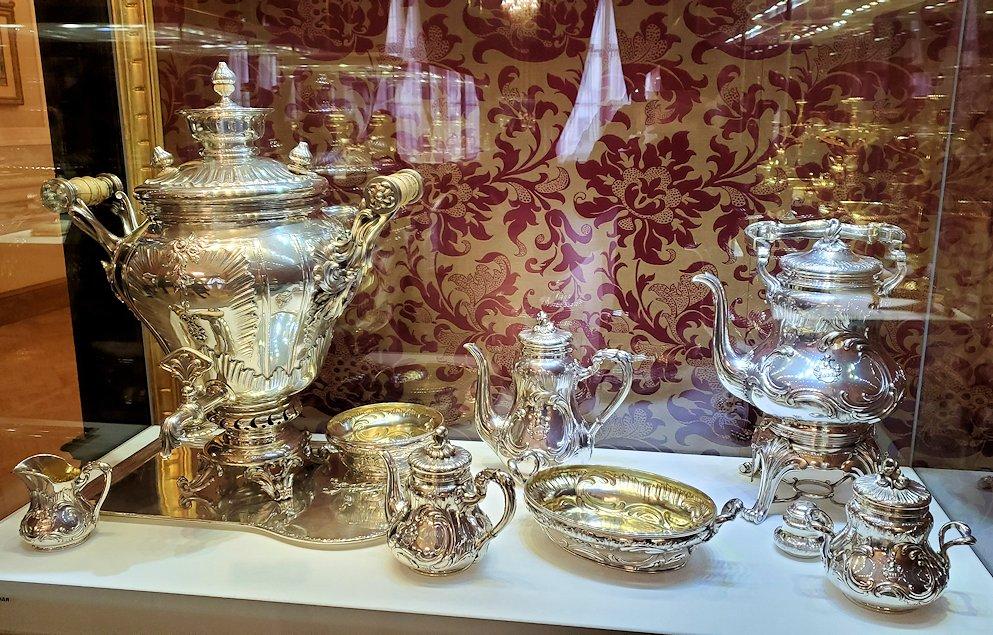 ファベルジェ博物館に置かれていた高級金細工製品の数々-2