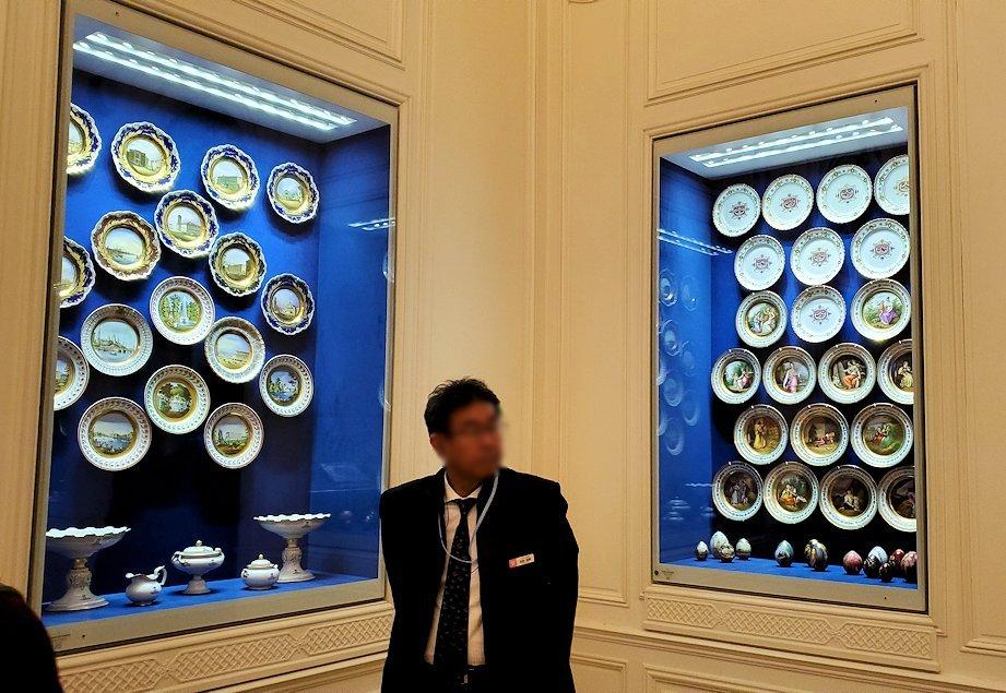 ファベルジェ博物館に展示されている豪華なお皿