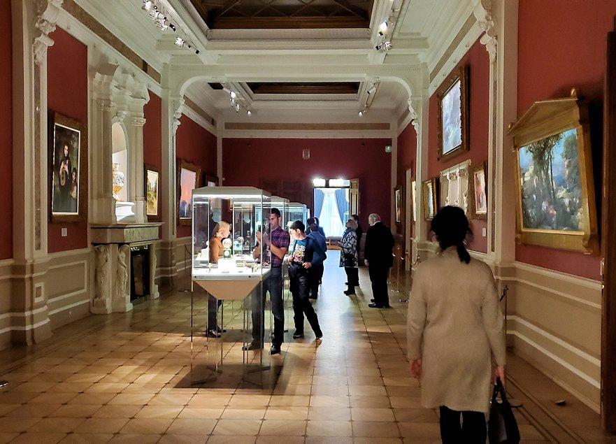 ファベルジェ博物館に展示されている絵画ルーム