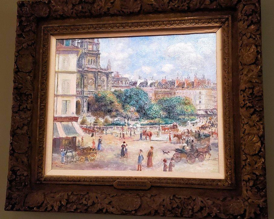 『パリのトリニテ広場』 (Place de la Trinité, Paris) by ピエール・オーギュスト・ルノワール(Pierre-Auguste Renoir)