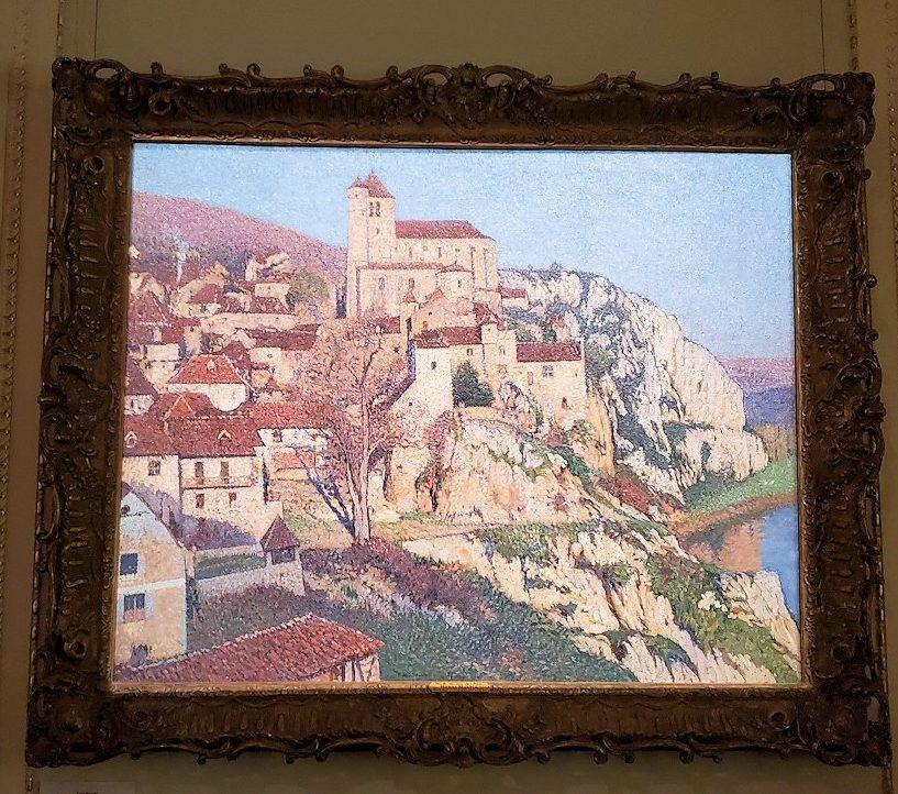 『サン・シルク・ラポピーの眺め』 (View of Saint-Cirque-Lapopie) by アンリ・マルタン(Henri Martin)