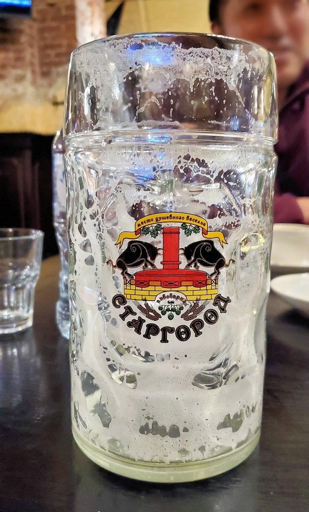 なんとか飲み切ったビール大のジョッキ