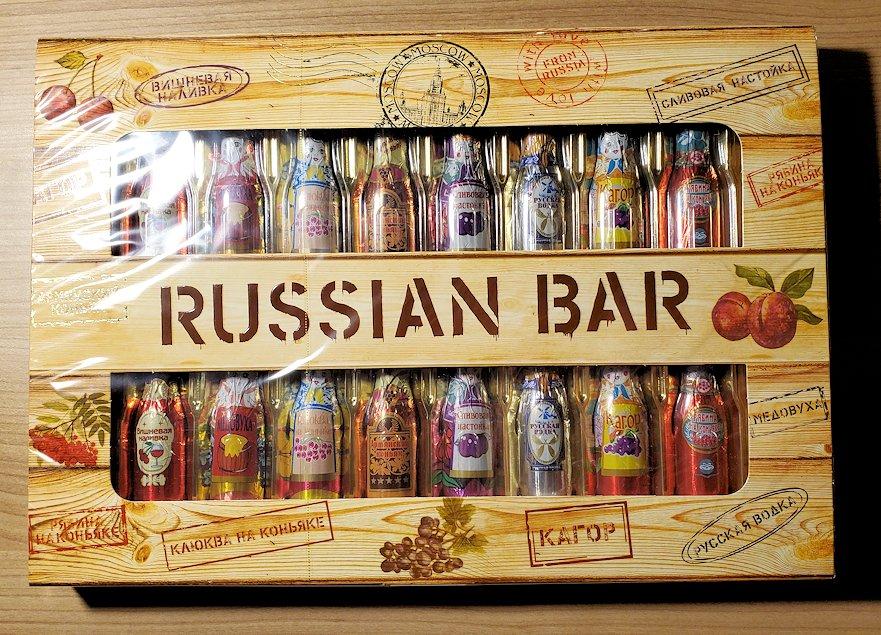 サンクトペテルブルクのホリデーイン横にあるスーパーで購入したお菓子