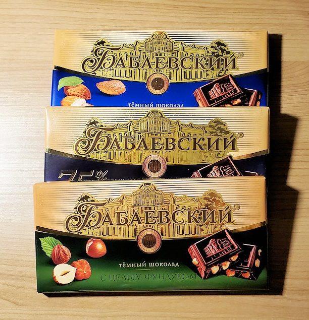 サンクトペテルブルクのホリデーイン横にあるスーパーで購入したお菓子-2