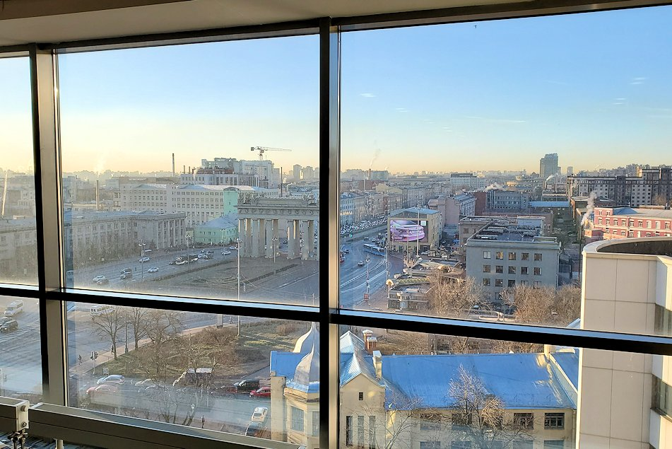 サンクトペテルブルクのホリデーインから見た周辺の景色