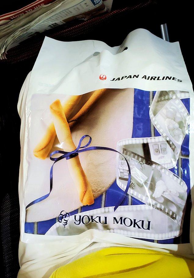 JALのCAさんからお返しに頂いたお菓子