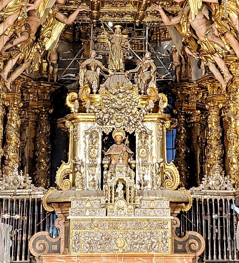 サンティアゴ・デ・コンポステーラ大聖堂内の聖ヤコブの祭壇