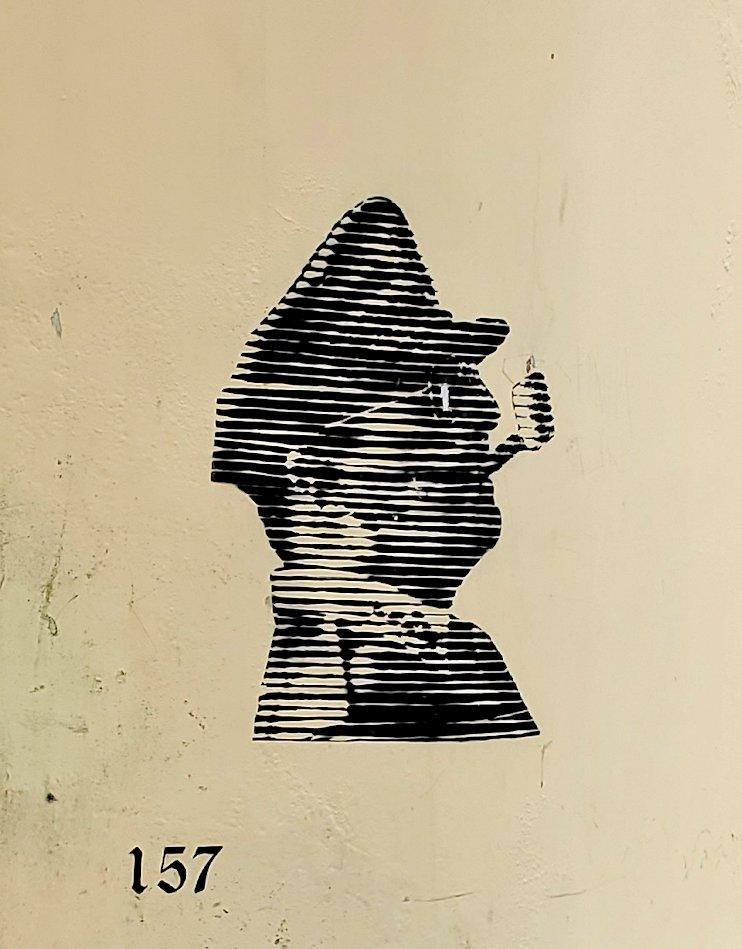ポルトガルのヴィアナ・ド・カストロという街の壁に描かれていた、ダグラス・マッカーサー(Douglas MacArthur)の絵