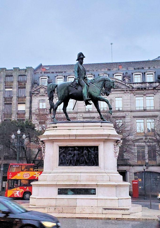 ポルトの街にあった、ポルトガル国王「ペドロ4世(Pedro IV)」であり、かつブラジル帝国初代皇帝であった「ペドロ1世(Pedro IV)」の像